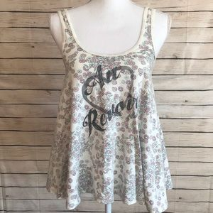 Billabong Floral French Graphic Tank Top